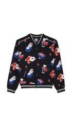 Vince Camuto Floral Bomber Jacket