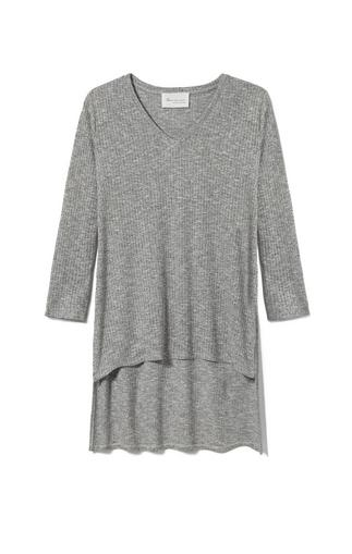 Two By Vince Camuto Ribbed Hi-lo Top
