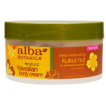 Alba Botanica Hawaiian Body Cream Deep Moisturizing Kukui Nut