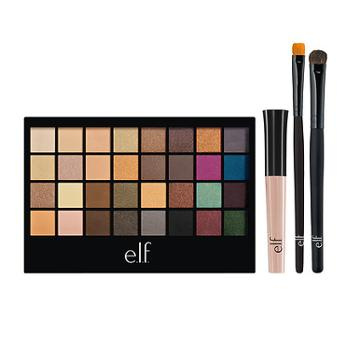 E.l.f. Eyeshadow Palette With 2 Brushes + Eyelid Primer