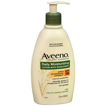 Aveeno Active Naturals Daily Moisturizing Lotion With Sunscreen Spf 15