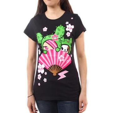 Tokidoki Super Fan Womens Black T-shirt