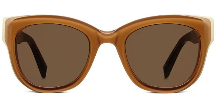 Warby Parker Sunglasses - Bird In Burnt Honey With Cream