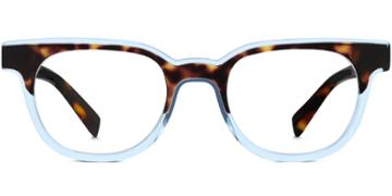 Warby Parker Eyeglasses - Duckworth In Cognac Tortoise Bermuda Blue
