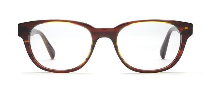 Warby Parker Eyeglasses - Ainsworth In Striped Chestnut