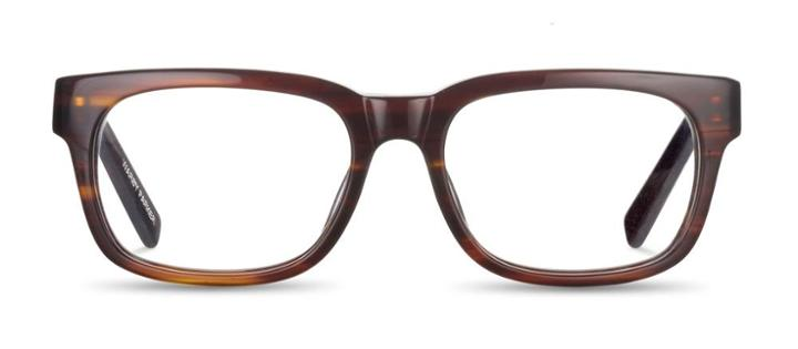 Warby Parker Eyeglasses - Beckett In Striped Chestnut
