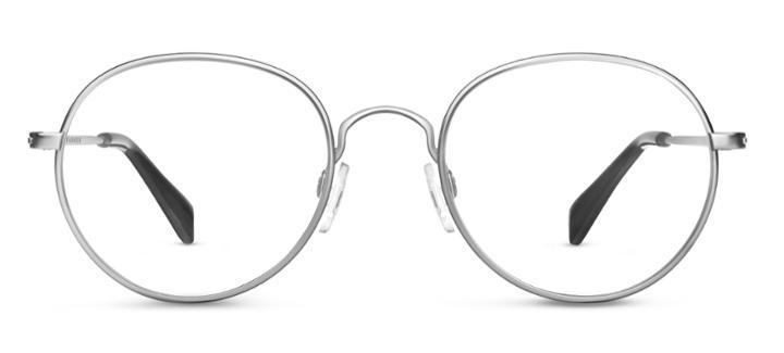 Warby Parker Eyeglasses - Abbott In Jet Silver