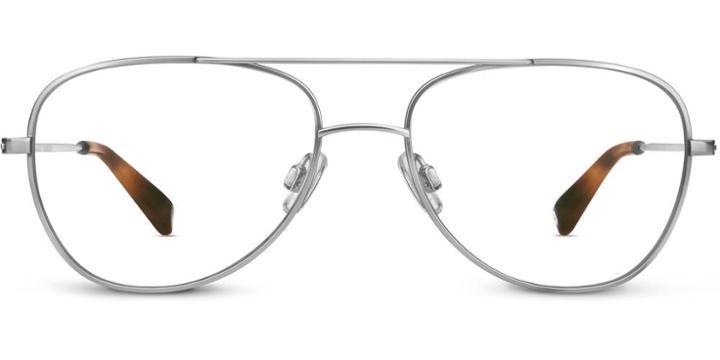 Warby Parker Eyeglasses - Lionel In Jet Silver