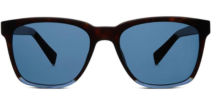 Warby Parker Sunglasses - Barkley In Cognac Tortoise With Admiral Blue
