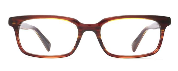 Warby Parker Eyeglasses - Linwood In Striped Chestnut