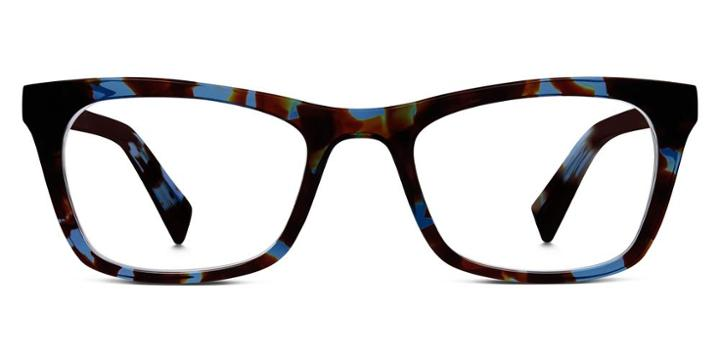 Warby Parker Eyeglasses - Simone In Blue Coral