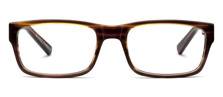 Warby Parker Eyeglasses - Wiloughby In Striped Chestnut
