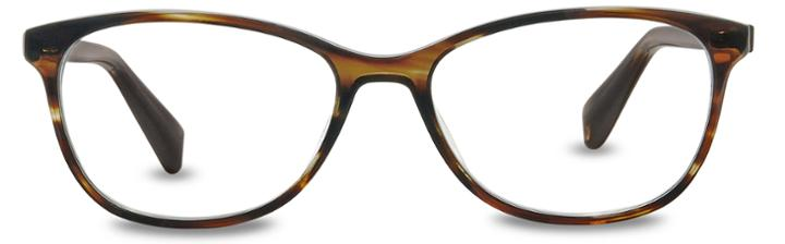 Warby Parker Eyeglasses - Daisy In Striped Molasses