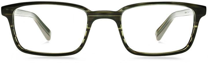 Warby Parker Eyeglasses - Langhorne In Striped Evergreen