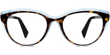 Warby Parker Eyeglasses - Ashby In Cognac Tortoise Bermuda Blue