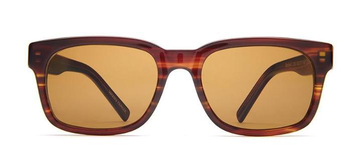Warby Parker Sunglasses - Beckett In Striped Chestnut