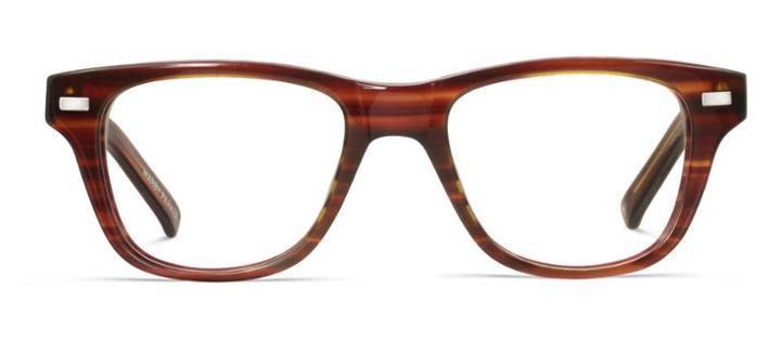 Warby Parker Eyeglasses - Owen In Striped Chestnut
