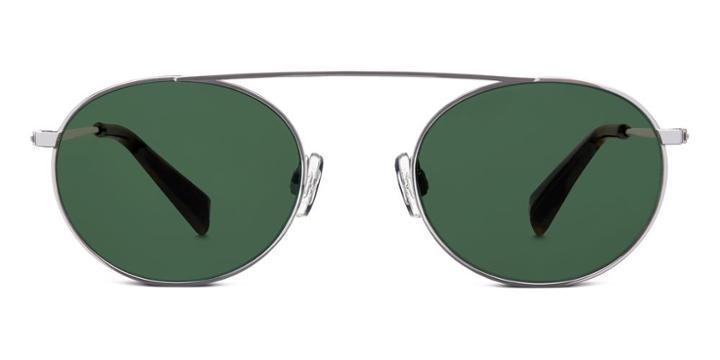 Warby Parker Sunglasses - Joplin In Brushed Silver