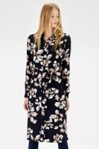 Warehouse Floral Belted Shirt Dress