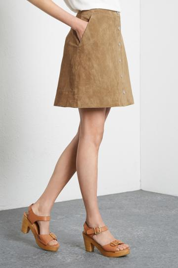 Warehouse Suede A Line Skirt