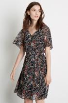 Warehouse Angel Sleeve Floral Dress
