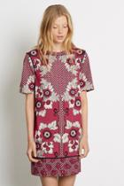 Warehouse Tile Floral Shift Dress