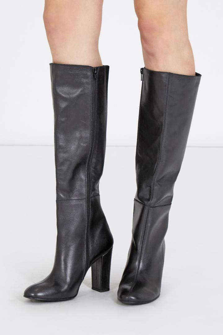 Warehouse Leather Knee High Boots