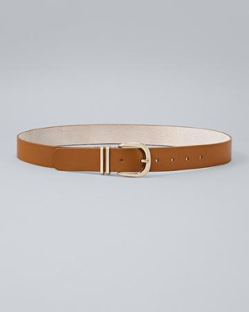 White House Black Market Women's Leather Belt