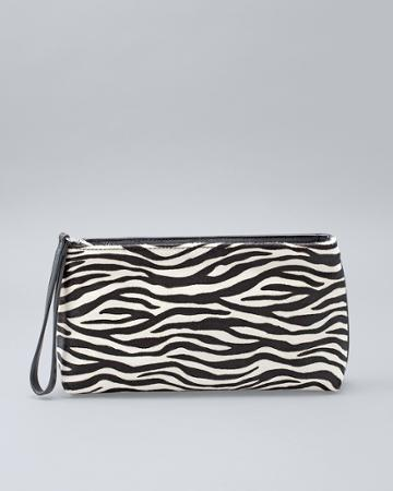 White House Black Market Women's Zebra Wristlet