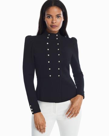White House Black Market Women's Double Breasted Sweater Jacket