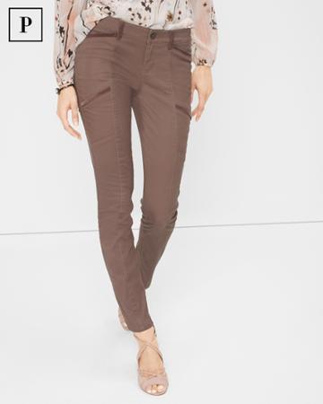 White House Black Market Women's Petite Velveteen-trim Skimmer Jeans