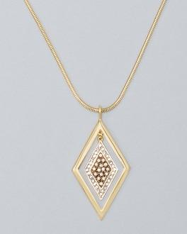 White House Black Market Convertible Multi-strand Long Pendant Necklace