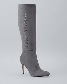 White House Black Market Whipstich-detail Knee-high Boots