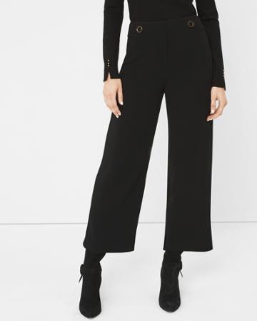 White House Black Market Women's Cropped Wide-leg Pants