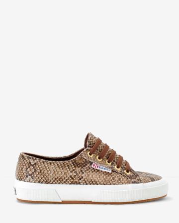 White House Black Market Women's 2750 Superga Snake-print Sneakers