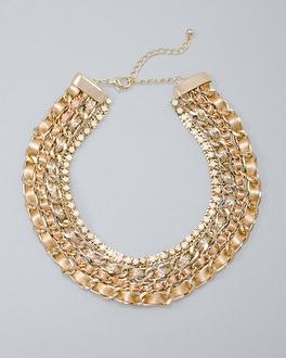 White House Black Market Woven-chain Necklace