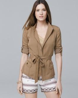 White House Black Market Soft Utility Blazerette Jacket