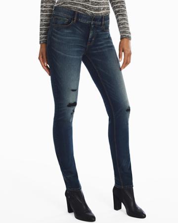 White House Black Market Women's Distressed Slim Jeans
