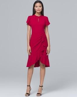 White House Black Market Nanette Lepore Flutter Sheath Dress