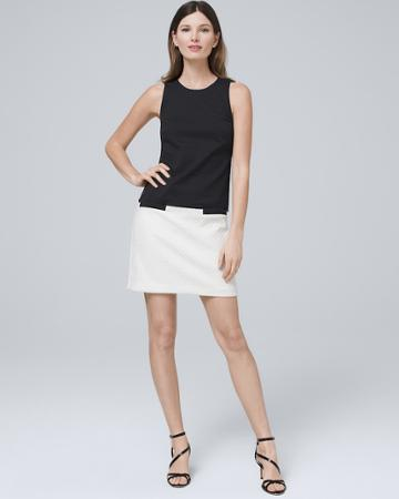 White House Black Market Women's Eliza J Colorblock Shift Dress
