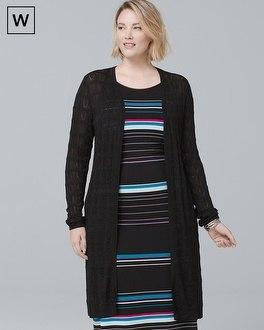 White House Black Market Plus Textured Knit Cover-up