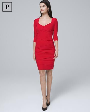 White House Black Market Women's Petite Instantly Slimming Sheath Dress