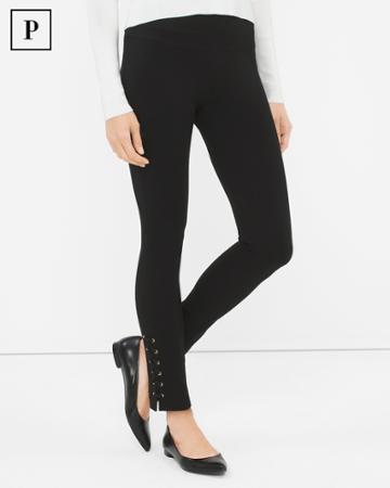 White House Black Market Women's Petite Lace-up Instantly Slimming Leggings