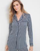 White House Black Market Women's Striped Pajama Tunic