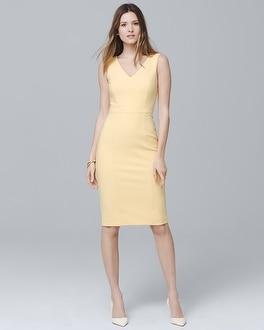 White House Black Market Body Perfecting Seamed Sheath Dress