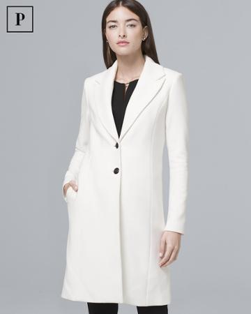 White House Black Market Women's Petite Classic Coat