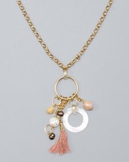 White House Black Market Mixed-charm Pendant Necklace