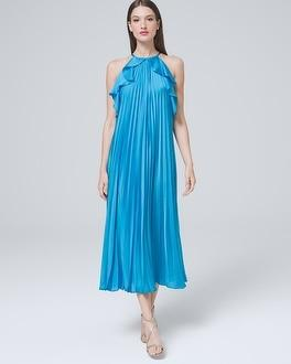 White House Black Market Ml Monique Lhuillier Ruffle Maxi Dress