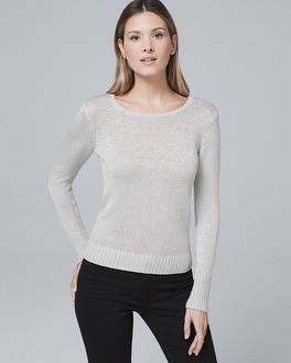 White House Black Market Metallic-detail Sweater