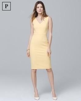 White House Black Market Petite Body Perfecting Seamed Sheath Dress